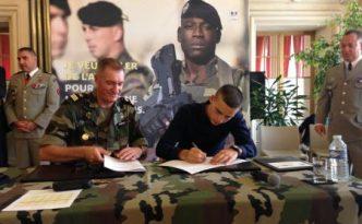 Kevin a signé pour 5 ans en tant que mécanicien au sein du régiment de matériel de Mourmelon.